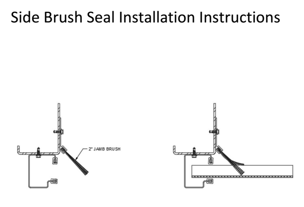 Installing a side brush seal